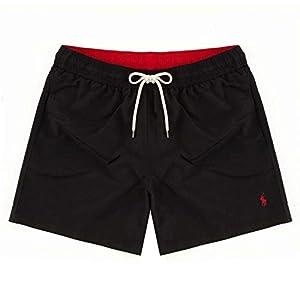 31Uktn3Pi L. SS300  - Polo Ralph Lauren Pantalones Cortos de natación Hombres, Traje de baño, Colores Lisos con Bordado con Logo