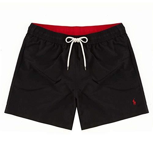 Polo Ralph Lauren Short de Bain pour Homme, Bain de Voyage, Couleurs Unies avec Logo brodé