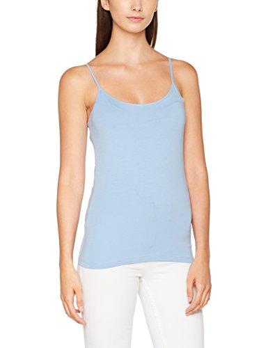 ONLY Damen Top Onllive Love New Strap Singlet Noos, Blau (Forever Blue), 38 (Herstellergröße:M) (Spaghetti-top T-shirt)