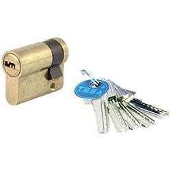 Tesa 3010151 - Cilindro de seguridad (latonado, 30 x 30 mm)