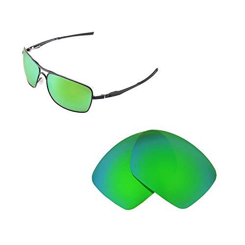 Walleva Ersatz-Objektive für Oakley Kläger Sonnenbrille Kariert, 6Optionen erhältlich, Unisex, Emerald - Polarized, Einheitsgröße