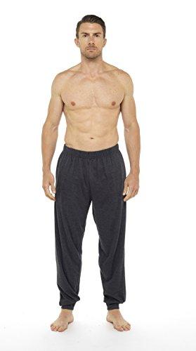 CComfort Herren Schlafanzughose dunkelrot und dunkelgrau