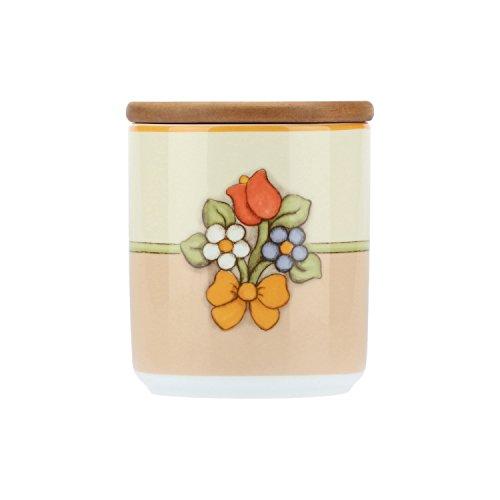 THUN Barattolo Country con Tulipano, porcellana e legno