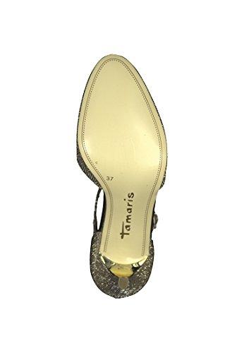 Tamaris Pompe Nude vernice brevetto tacco alto tacco a spillo 1-24428-22 Gold
