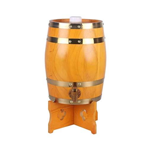 Kylinjtt Personalisierte Wein Eiche Aging Barrel - Barrel im Alter von 5 Litern Eiche Barrel Weinfass Haushalt Weinfass Dekorative Weinfass (Color : Style A)