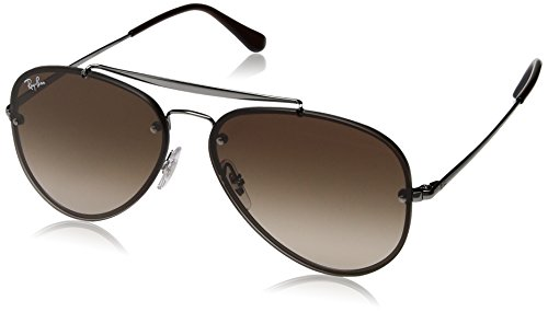 RAYBAN JUNIOR Unisex-Erwachsene Sonnenbrille Blaze Aviator, Gunmetal/Browngradientdarkbrown, 58