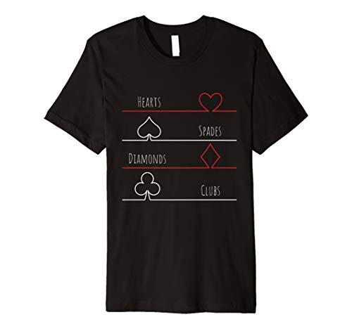 (Poker Karten Spiel T-Shirt - Herz, Pik, Karo, Kreuz)