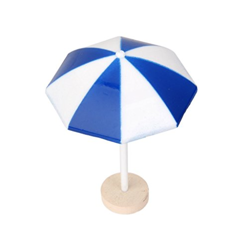 LUOEM Spiaggia ombrellone Mini ombrello paesaggio Bonsai Dollhouse Craft Decor blu