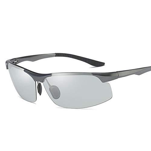 GXM-FR Polarisierte Sonnenbrille, intelligente, farbwechselnde, blendfreie UV400-Schutzbrille, Herrenfahrrad, Golf, Laufen, Reiten, Angeln, Ultraleichte Brille,Gray