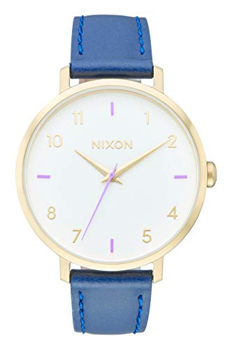 Nixon Damen Analog Quarz Uhr mit Leder Armband A1091151-00