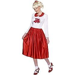Smiffy's Smiffys Licenciado oficialmente Disfraz de Sandy de Grease, Rojo y blanco, con vestido Color, M - EU Tamaño 40-42 29797