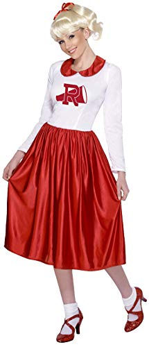 Smiffys, Damen Sandy Kostüm, Kleid, Grease, Größe: One Size, - Sandy Fancy Dress Kostüm