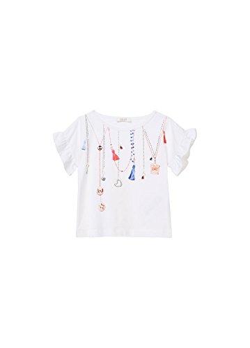 T-Shirt LIU JO Bianco Con Strass 3 A
