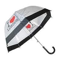 Big Umbrella Transparent Dome Shaped I Love London Outdoor Rain Big Brolly New