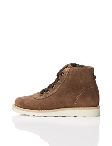 RED WAGON Botas con Cremallera para Niños, Marrón Brown, 25.5 EU 8 UK