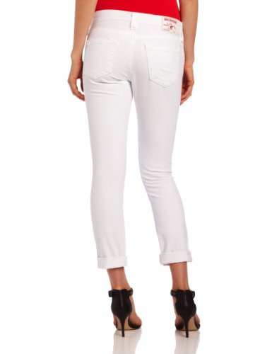 True Religion Damen Jeans Boyfriend BRIANNA BOYFRIEND FI Wash QE OPTIC WHITE Weiß