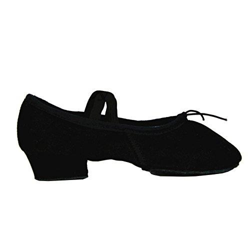 Tela Morbido Scarpe Danza Classica Tela Morbido Scarpe da Ballo Scarpette da Danza Ballerina con Suola per le Ragazze Bimba Donna Delle Signore Uomini