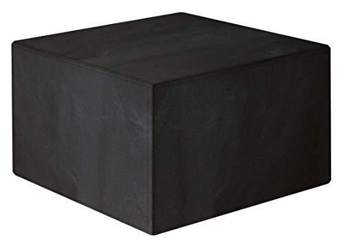 Beeo B108 Quadratische Abdeckung für Gartenmöbel, Rattan, rechteckig, 126 x 126 x 74 cm, Oxford-Gewebe, Schwarz, 600D