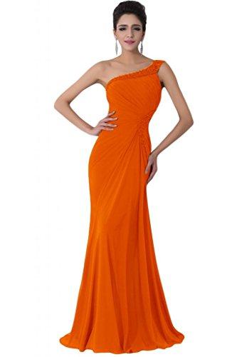 Sunvary Vintage con spalle in Chiffon Prom abiti retro aperto Arancione