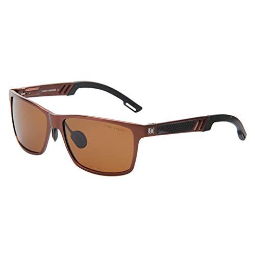 16c33e18c7 Jimmy Orange Lente Espejada Marco de Aluminio Magnesio Gafas de Sol  Polarizadas Wayfarer Hombres Gafas de