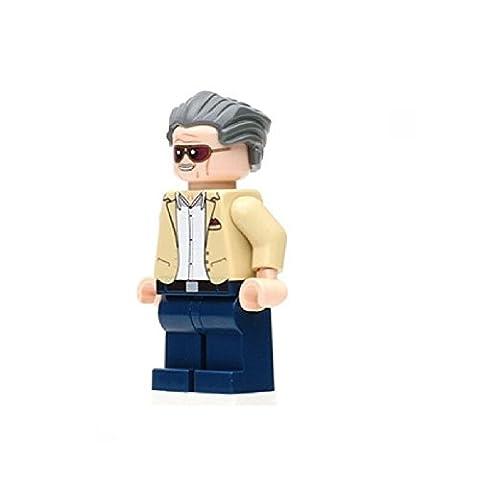 Stan Lee Lego benutzerdefinierte Minifigure kompatibel mit Lego Diy Figur - Superhelden - perfekt für Weihnachten - Weihnachten