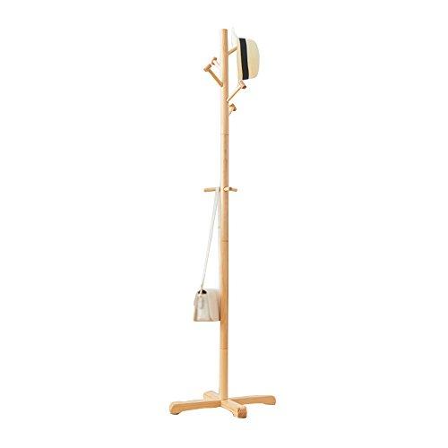 Taomi homw- cremagliera di legno / appendiabiti di legno del pavimento / cremagliera semplice dei vestiti di legno solido / diametro 4cm della base dell'albero principale (50 * 50 * 178cm) ( colore : colore del legno )