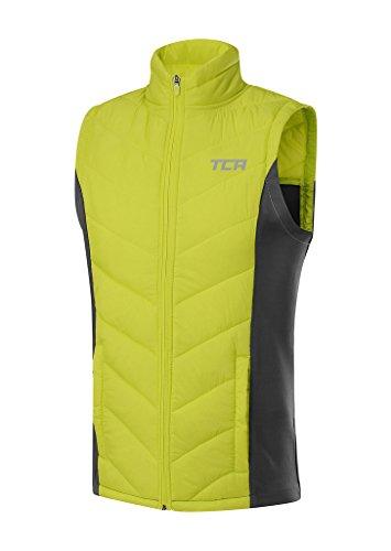 TCA Herren Excel Runner Laufweste mit Reißverschlusstaschen - Ärmellos - Grün/Grau, XL