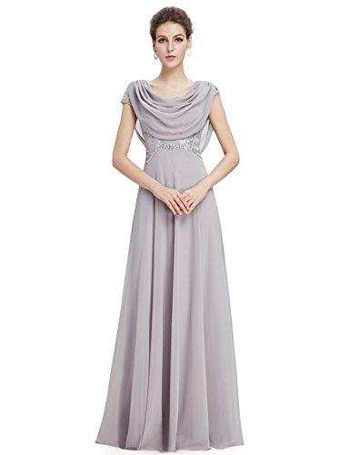 Ever Pretty Damen Elegante Pailletten Lange Abendkleider 09989 Grau