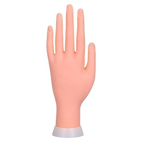 Binnan Mano de Caucho de Flexible Mano de Maniquí para Práctica del Arte del Clavo Manicura Uñas