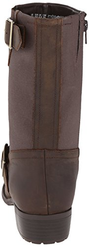 Hush Puppies  Lola Chamber, Bottes femme Marron - Dark Brown WP Leather/Canvas
