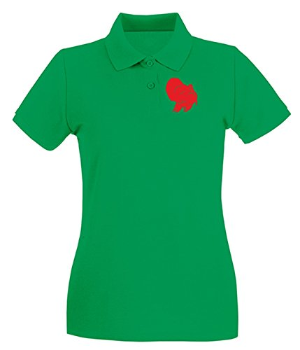 Cotton Island - Polo pour femme FUN1283 duck decals car stickers 4 73609 Vert