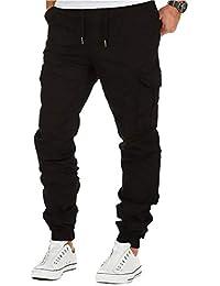 45e083cccef173 BMEIG Uomo Chino Cargo Pantaloni Slim Fit Cotone Sportivi Multi Tasche  Multiuso Pantaloni Casual Outdoor Escursionismo