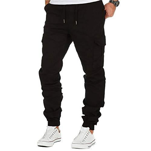 ca35a5ba31b12f BMEIG Uomo Chino Cargo Pantaloni Slim Fit Cotone Sportivi Multi Tasche  Multiuso Pantaloni Casual Outdoor Escursionismo
