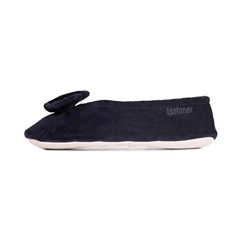 Isotoner - Zapatillas De Mujer En Gamuza, Cómodas Y Ergonómicas, Talla 40 Negra (negro)