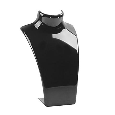 Buste Mannequin - Présentoir Support en Plastique pour Collier Boucles
