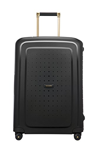 50917/7246 SAMSONITE S'Cure DLX Spinner, 4.1 KG Koffer, 69 cm, 79 L, Black/Gold Deluscious