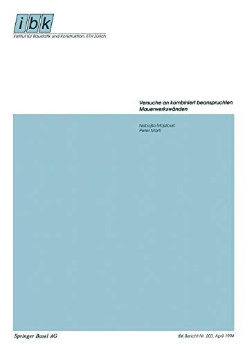 Versuche an kombiniert beanspruchten Mauerwerkswänden (Institut für Baustatik und Konstruktion, Band 203)