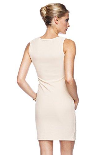 elagantes Étui robe avec diffuseur asyme auss chnit et frise en noir ou beige doré Beige - Beige