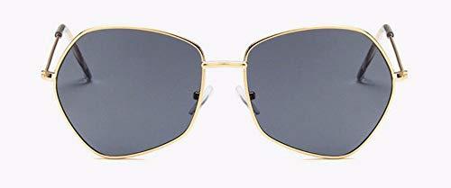 WSKPE Sonnenbrille Frauen Sonnenbrille Sonnenbrille Mit Der Einzigartiges Frame Schattierungen Uv400 (Gold Gestell Schwarz Objektiv)