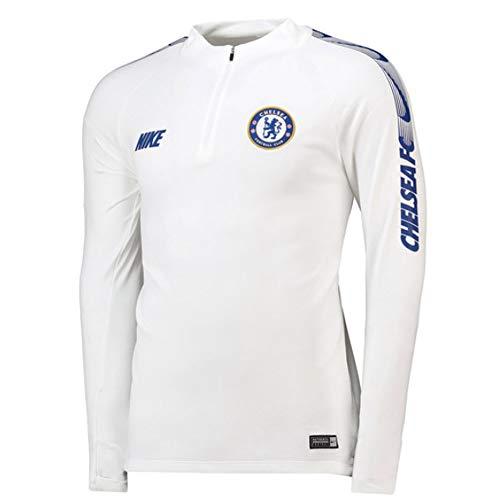 9f93a20b565 Nike Herren CFC M NK Dry SQD DRIL Long Sleeved T-Shirt White Rush