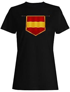 España bandera viaje el mundo camiseta de las mujeres g471f