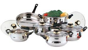 12PC STAINLESS STEEL PAN POT COOKWARE SAUCEPAN SET By Impressions