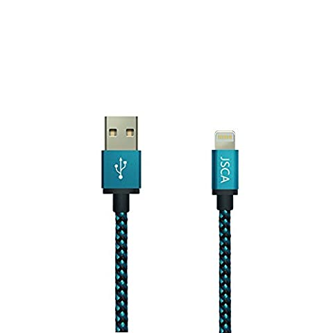 iPhone Cable 3m / 9.8ft JSCA Nylon Braided Lightning Cable/