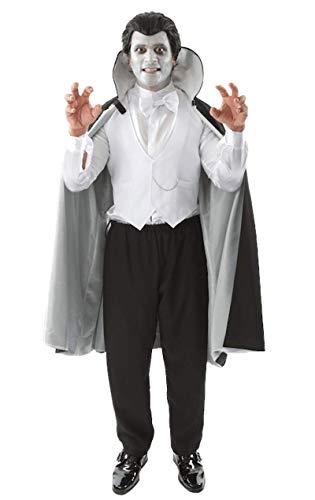 Anzahl der Erwachsenen Herren Vampir Dracula Phantom Halloween Kostüm Extra Large