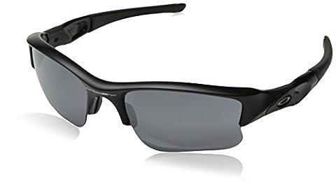 Oakley Unisex Sonnenbrille Flak Jacket XLJ, Einfarbig, Gr. Large (Herstellergröße: 63), Schwarz (Gestell: matt schwarz; Gläserfarbe: schwarz Iridium 24-434)