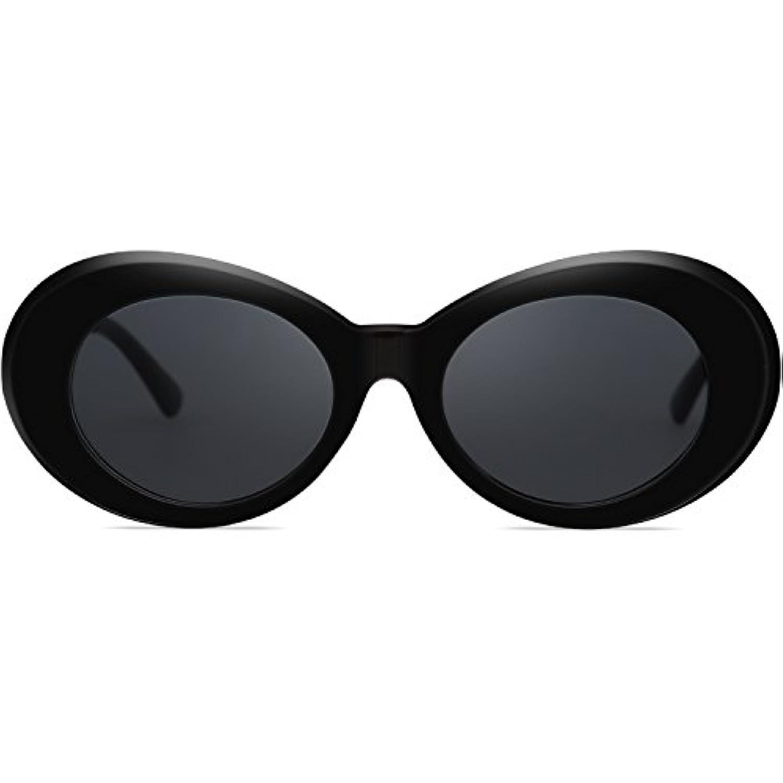 SojoS Clout Goggles Ovale Mod Rétro Kurt Cobain Inspiré Lunettes de Soleil Rond Lentille SJ2039 avec Blank Cadre/Gris Lentille PrGTBkMEnQ