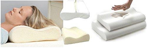 Visco Elastic-memory Foam Matratze (SHOP Of Accessories ® (2 Stück), Memory-Foam, Kopfkissenbezug (50 cm x 30 cm x 9 cm))