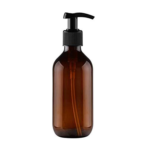 500ml Leere Shampoo-Flaschen Undurchsichtig Vielseitig Pumpenflasche Tropfenfreier Lotionsbehälter (Color : Brown)