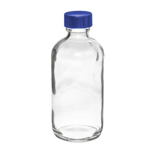 fa00b54bb969 I-Chem Brand 229-0125 200 Series Type III Glass Clear Boston Round Bottle,  Pre-Cleaned, With PTFE-Lined Silicone Liner, Capacity: 125mL (Case of 12)