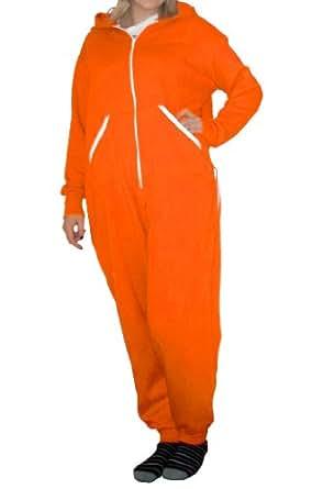"""Onesie Onezie All in One Onepiece Jumpsuit (XXXS up to 4' 6"""", Orange)"""